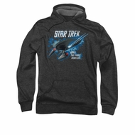 Star Trek Hoodie Final Frontier Charcoal Sweatshirt Hoody