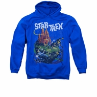 Star Trek Hoodie Vulcan Battle Royal Blue Sweatshirt Hoody