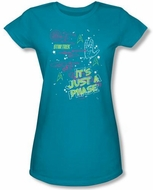 Star Trek Juniors T-shirt - Just A Phase Turquoise Tee
