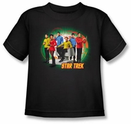Star Trek Kids Shirt Original Crew Enterprise's Finest Youth Black Tee