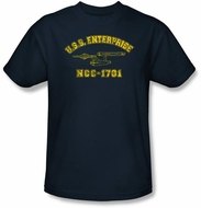 Star Trek Kids T-shirt - Enterprise Athletic Youth Navy Tee