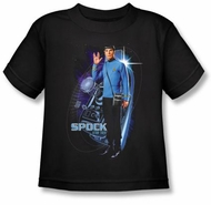 Star Trek Kids T-shirt - Galactic Spock Youth Black Tee
