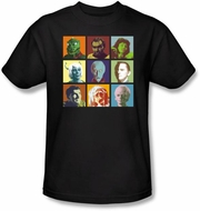 Star Trek Shirt - Alien Squares Adult Black T-Shirt
