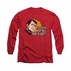 Star Trek Shirt All She's Got Long Sleeve Red Tee T-Shirt