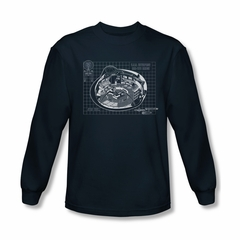 Star Trek Shirt Bridge Prints Long Sleeve Navy Tee T-Shirt