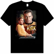 Star Trek Shirt - Captain Kirk Trekkie Adult Black