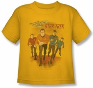 Star Trek Shirt - Classic Crew Animated Adult Yellow