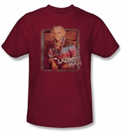 Star Trek Shirt Deep Space 9 Quark Ladies Man Adult Cardinal T-Shirt