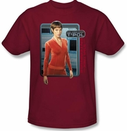 Star Trek Shirt - Enterprise T'POL Adult Cardinal Red