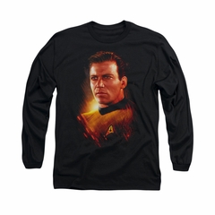 Star Trek Shirt Epic Kirk Long Sleeve Black Tee T-Shirt