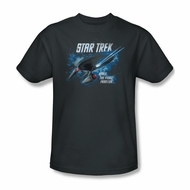 Star Trek Shirt Final Frontier Charcoal T-Shirt