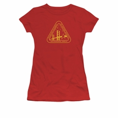 Star Trek Shirt Juniors Academy Logo Red T-Shirt