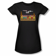 Star Trek Shirt Juniors Tos Trexel Crew Black T-Shirt