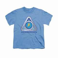 Star Trek Shirt Kids Astrophysics Carolina Blue T-Shirt