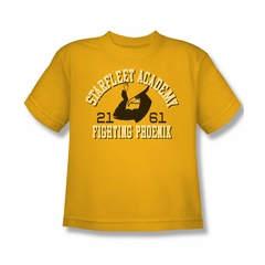 Star Trek Shirt Kids Fighting Phoenix Gold T-Shirt