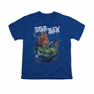Star Trek Shirt Kids Vulcan Battle Royal Blue T-Shirt
