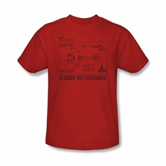 Star Trek Shirt Klingon Battlecruiser Red T-Shirt