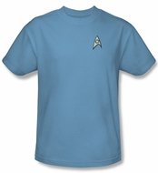 Star Trek Shirt Science Uniform Adult Carolina Blue Tee T-Shirt