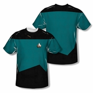 Star Trek Shirt Science Uniform Sublimation Shirt Front/Back Print
