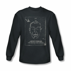 Star Trek Shirt Search For Spock Long Sleeve Charcoal Tee T-Shirt