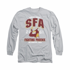 Star Trek Shirt SFA Fighting Phoenix Long Sleeve Silver Tee T-Shirt
