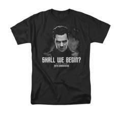 Star Trek Shirt Shall We Begin Black T-Shirt