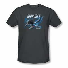 Star Trek Shirt Slim Fit Final Frontier Charcoal T-Shirt