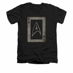 Star Trek Shirt Slim Fit V-Neck Ace Black T-Shirt
