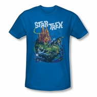 Star Trek Shirt Slim Fit Vulcan Battle Royal Blue T-Shirt
