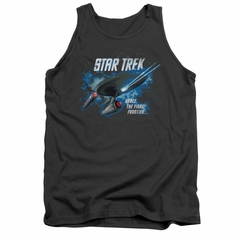 Star Trek Shirt Tank Top Final Frontier Charcoal Tanktop