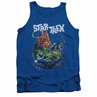 Star Trek Shirt Tank Top Vulcan Battle Royal Blue Tanktop