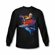 Star Trek Shirt The Next Gen 25 Long Sleeve Black Tee T-Shirt
