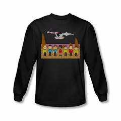 Star Trek Shirt Tos Trexel Crew Long Sleeve Black Tee T-Shirt