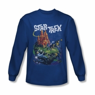 Star Trek Shirt Vulcan Battle Long Sleeve Royal Blue Tee T-Shirt