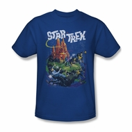 Star Trek Shirt Vulcan Battle Royal Blue T-Shirt