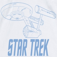 Star Trek Shirts - The Original Series Enterprise Outline Ringer Shirts
