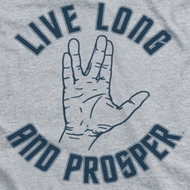 Star Trek Shirts - The Original Series Live Long Hand Ringer Shirts