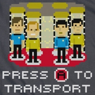 Star Trek Shirts - The Original Series Press A To Transport Shirts