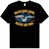 Star Trek T-shirt - Boldly Went There Enterprise Adult Black