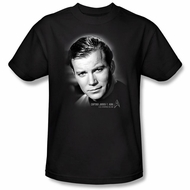 Star Trek T-shirt - Captain Kirk Portrait Shatner Adult Black
