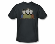 Star Trek T-shirt - Chicks Dig The Uniform Adult Charcoal