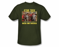 Star Trek T-shirt - Episode 43 Bread and Circuses Adult Army Green