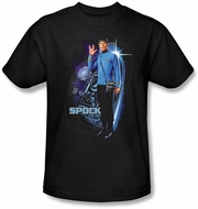 Star Trek T-shirt - Galactic Spock Adult Black