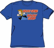 Star Trek T-shirt - Kirk Boldly Going Adult Royal Blue