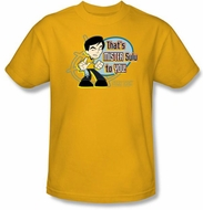 Star Trek T-shirt - Mr Sulu To You Cartoon Adult Gold