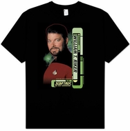 Star Trek T-shirt - Riker The Next Generation Adult Black