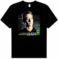 Star Trek T-shirt - The Next Generation Data Black