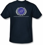Star Trek T-shirt - United Federation Logo Adult Navy
