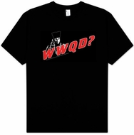 Star Trek T-shirt - WWQD What Would Q Do? Adult Black