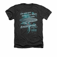 Star Trek - The Next Generation Shirt Never Forget Adult Heather Charcoal Tee T-Shirt